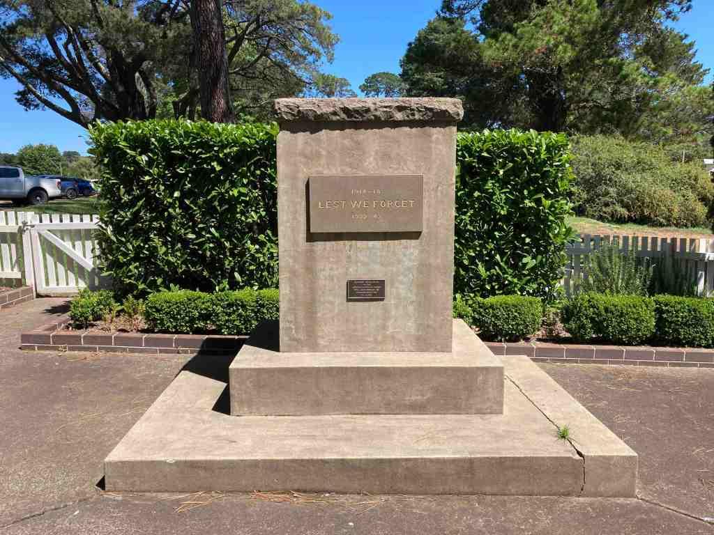 stone war memorial Berrima Park